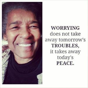 Worry takes awat peace